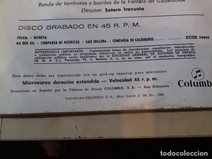 Discos de vinilo: EL CARNAVAL EN SAN SEBASTIAN (SARRIEGUI) BANDA DE MUSICA (JOSE LUIS INDA) SINGLE COLUMBIA - Foto 5 - 79797901