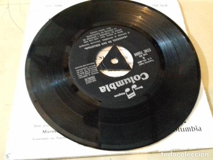 Discos de vinilo: EL CARNAVAL EN SAN SEBASTIAN (SARRIEGUI) BANDA DE MUSICA (JOSE LUIS INDA) SINGLE COLUMBIA - Foto 6 - 79797901