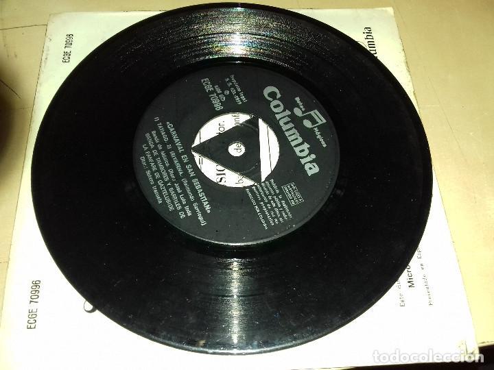 Discos de vinilo: EL CARNAVAL EN SAN SEBASTIAN (SARRIEGUI) BANDA DE MUSICA (JOSE LUIS INDA) SINGLE COLUMBIA - Foto 7 - 79797901