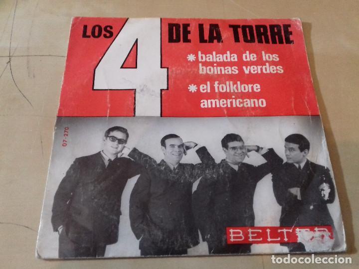 4 DE LA TORRE, LOS: BALADA DE LOS BOINAS VERDES / EL FOLKLORE AMERICANO (Música - Discos - Singles Vinilo - Grupos Españoles 50 y 60)
