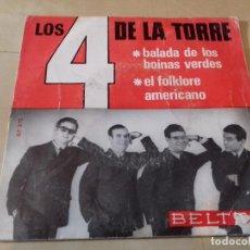 Discos de vinilo: 4 DE LA TORRE, LOS: BALADA DE LOS BOINAS VERDES / EL FOLKLORE AMERICANO. Lote 79798301