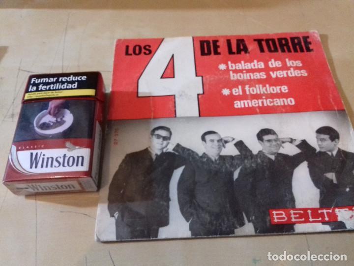 Discos de vinilo: 4 DE LA TORRE, LOS: BALADA DE LOS BOINAS VERDES / EL FOLKLORE AMERICANO - Foto 2 - 79798301
