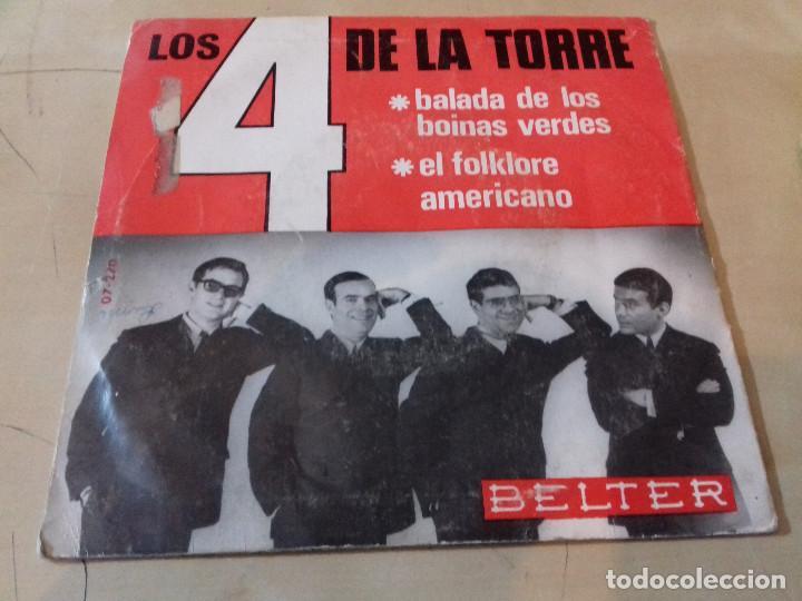 Discos de vinilo: 4 DE LA TORRE, LOS: BALADA DE LOS BOINAS VERDES / EL FOLKLORE AMERICANO - Foto 3 - 79798301