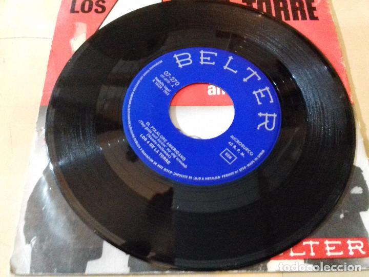 Discos de vinilo: 4 DE LA TORRE, LOS: BALADA DE LOS BOINAS VERDES / EL FOLKLORE AMERICANO - Foto 5 - 79798301
