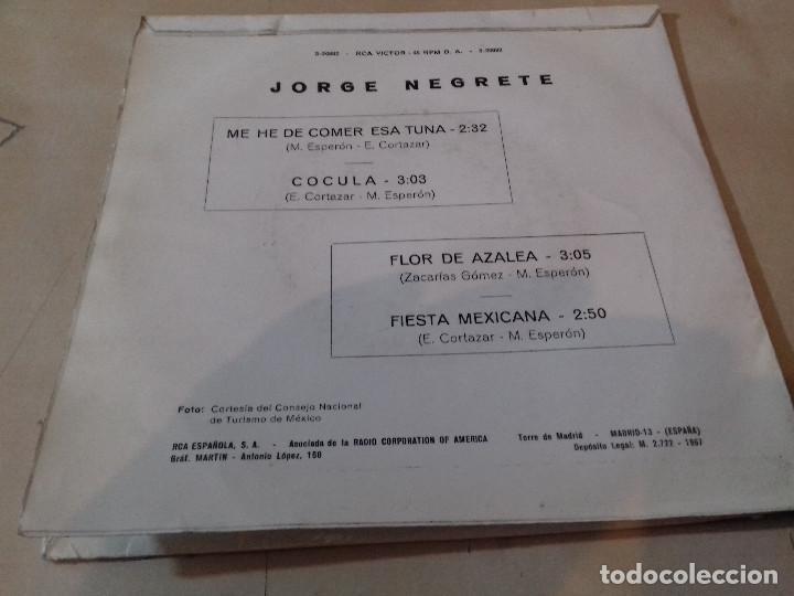 Discos de vinilo: Jorge Negrete - Me he de comer esa Tuna / Cocula/flor de azalea/fiestra mexicana/RCA Victor - Foto 3 - 79799549