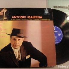 Discos de vinilo: ANTONIO MAIRENA - LA LLAVE DE ORO DLE CANTE FLAMENCO HISPAVOX 1983 LP FLAMENCO. Lote 79800565