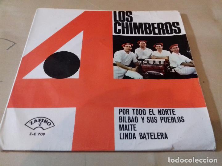LOS 4 CHIMBEROS POR TODO EL NORTE BILBAO Y SUS PUEBLOS MAITE LINDA BATELERA ZAFIRO (Música - Discos - Singles Vinilo - Grupos Españoles 50 y 60)