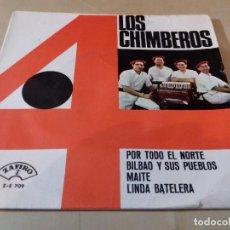 Discos de vinilo: LOS 4 CHIMBEROS POR TODO EL NORTE BILBAO Y SUS PUEBLOS MAITE LINDA BATELERA ZAFIRO. Lote 79802721