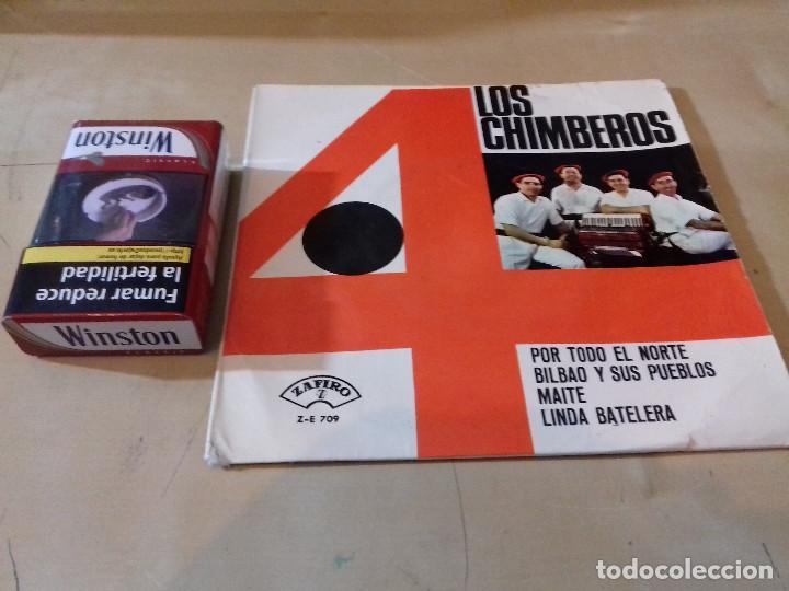 Discos de vinilo: LOS 4 CHIMBEROS POR TODO EL NORTE BILBAO Y SUS PUEBLOS MAITE LINDA BATELERA ZAFIRO - Foto 2 - 79802721