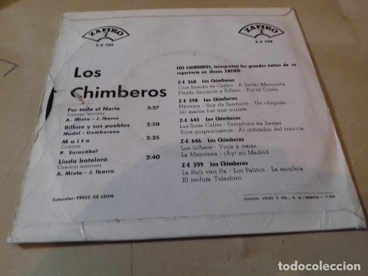 Discos de vinilo: LOS 4 CHIMBEROS POR TODO EL NORTE BILBAO Y SUS PUEBLOS MAITE LINDA BATELERA ZAFIRO - Foto 3 - 79802721