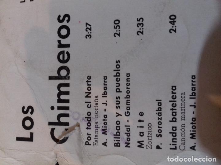 Discos de vinilo: LOS 4 CHIMBEROS POR TODO EL NORTE BILBAO Y SUS PUEBLOS MAITE LINDA BATELERA ZAFIRO - Foto 4 - 79802721