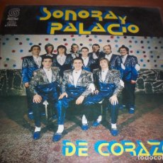 Discos de vinilo: LP DE SONORA PALACIO. DE CORAZON. EDICION SONDOR DE 1990 (URUGUAY). MUY RARO Y FIRMADO.. Lote 79803993