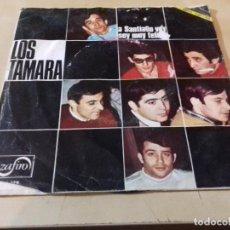 Discos de vinilo: LOS TAMARA-A SANTIAGPO VOY-SOY MUY FELIZ--ZAFIRO-00X179. Lote 79804153