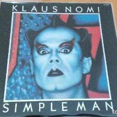 Discos de vinilo: KLAUS NOMI SIMPLE MAN LP 1982 INSERTO LETRAS PORTADA EN RELIEVE. Lote 79805293