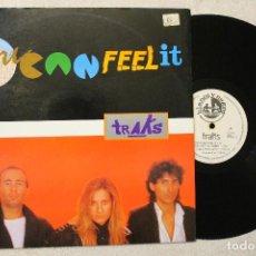 Discos de vinilo: TRACKS YOU CAN FEEL IT MAXI SINGLE VINYL MADE IN SPAIN 1985. Lote 79821645