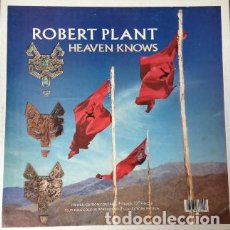 Discos de vinilo: ROBERT PLANT (LED ZEPPELIN) - HEAVEN KNOWS + 2 (MAXI) EDIC. ESPECIAL EN CAJA CON POSTER!! EX/EX++. Lote 79857661