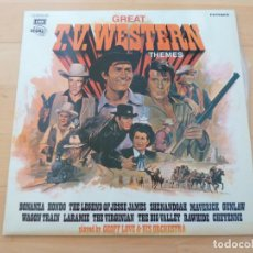 Discos de vinilo: GEOFF LOVE AND HIS ORCHESTRA GREAT TV WESTERN THEMES. Lote 79863897