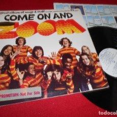 Discos de vinilo: COME ON AND BSO OST LP 1974 AM RECORDS PROMO GATEFOLD EDICION AMERICANA USA ZOOM TV . Lote 79883481