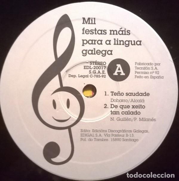 Discos de vinilo: Orquestra Da Televisión De Galicia-Mil Festas Máis Para A Lingua Galega, Edigal-EDL-20017 - Foto 3 - 79893109