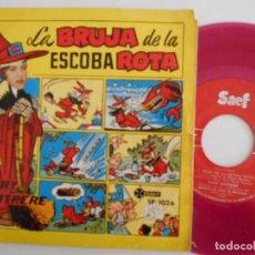 Discos de vinilo: MARY SANTPERE-SINGLE LA BRUJA DE LA ESCOBA ROTA-1959. Lote 79908797