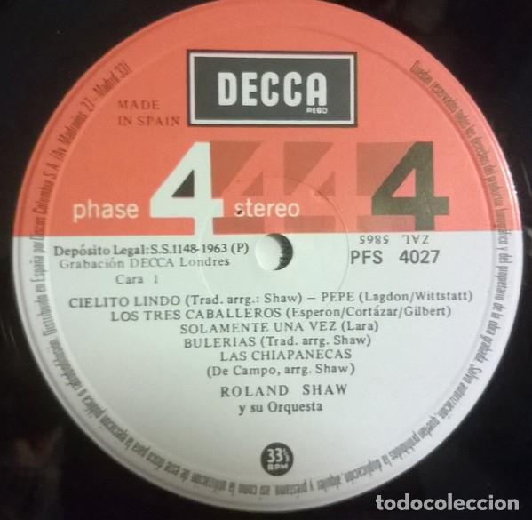 Discos de vinilo: Roland Shaw Y Su Orquesta - ¡México!, Decca - PFS 4027 - Foto 3 - 79914085