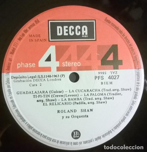 Discos de vinilo: Roland Shaw Y Su Orquesta - ¡México!, Decca - PFS 4027 - Foto 4 - 79914085
