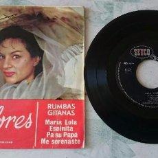 Discos de vinilo: LOLA FLORES. RUMBAS GITANAS: MARIA LOLA + 3 (DISCOPHON- SEECO 1964) . Lote 79950649
