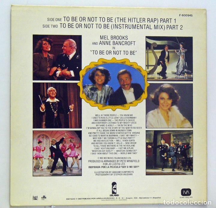 Discos de vinilo: Varios - To Be Or Not To Be (LP Vinilo) - Pedido mínimo 8€ - Foto 2 - 79960197