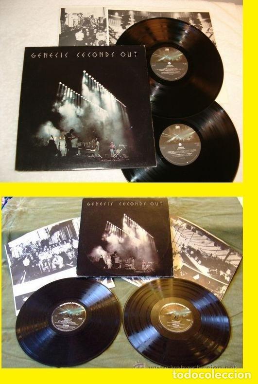 GENESIS / SECONDS OUT 1977 !! DOBLE LP !! COMPLETA 1ª EDIC. ORIG USA + ENCARTES !! TODO IMPECABLE (Música - Discos de Vinilo - EPs - Pop - Rock Internacional de los 70)