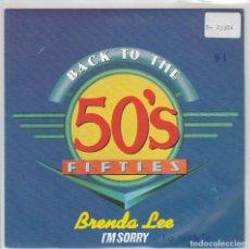 Discos de vinilo: BRENDA LEE / I'M SORRY - THE CRICKETS / GREAT BALLS OF FIRE (SINGLE PROMO 1992). Lote 79965045