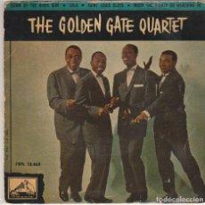 Discos de vinilo: THE GOLDEN GATE QUARTET / DOWN BY THE RIUVER SIDE + 3 (EP 1960). Lote 79977433