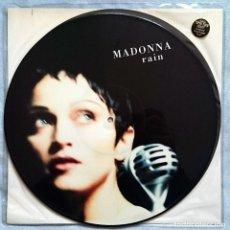 Discos de vinilo: MADONNA: RAIN, MAXISINGLE S/SIDED PICTURE DISC MAVERICK 9362-40996-0. UK, 1993. MINT. UNPLAYED.. Lote 79981397