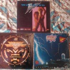 Discos de vinilo: BONFIRE - WAYSTED - STONE FURY - LOTE 3 LPS. Lote 79992833