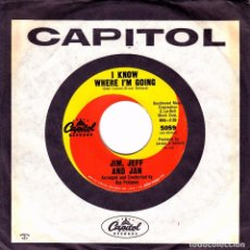 Discos de vinilo: JIM, JEFF AND JAN - STAR BRIGHT + I KNOW WHERE I´M GOING SINGLE SIN PORTADA RARO USA . Lote 79994777