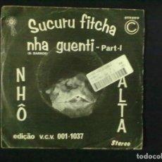 Discos de vinilo: SUCURU FITCHA NHA GENTI A VOZ DE CABO VERDE BLACK POWER NHO BALTA . Lote 79995217