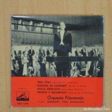 Discos de vinilo: HERBERT VON KARAJAN - TRIS TRAS + 3 - EP. Lote 80014109