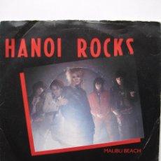 Discos de vinilo: HANOI ROCKS: MALIBU BEACH / AC/DC, MOTLEY CRUE, ROLLING STONES, AEROSMITH, JUNKYARD.... Lote 80035257