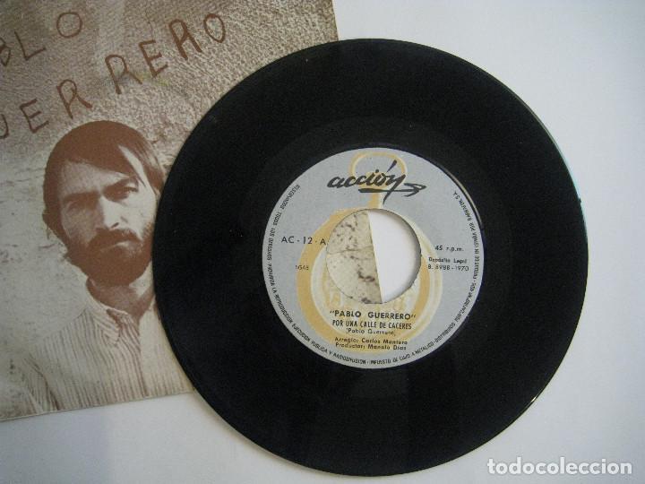 Discos de vinilo: PABLO GUERRERO - POR UNA CALLE DE LONDRES - 7 ACCION 1970 - Foto 3 - 80041593