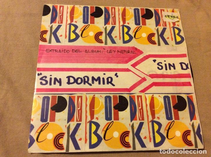 POP DE BLOCK - LEY NATURAL. SIN DORMIR. DISCO PROMOCIONAL.1991 (Música - Discos - Singles Vinilo - Grupos Españoles de los 90 a la actualidad)