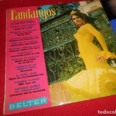 Discos de vinilo: FANDANGOS LP 1969 BELTER EDICION ESPAÑOLA SPAIN RECOPILATORIO JUANITO VALDERRAMA+CARMEN FLORES. Lote 80076221