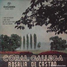 Discos de vinilo: REGIONAL - CORAL GALLEGA ROSALIA DE CASTRO / A MIÑA ROSIÑA /MOY BEN ... / EP DE 1959 ,RF-2000. Lote 80085793