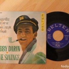 Discos de vinilo: BOBBY DARIN LOVE SWINGS MIL ESTRELLAS EP 1961. Lote 80095137