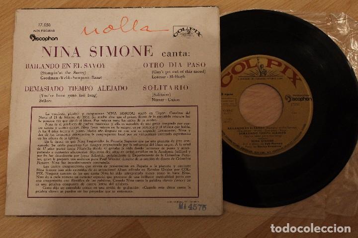 Discos de vinilo: THE AMAZING NINA SIMONE BAILANDO EN EL SAVOY EP 1960 - Foto 2 - 80095613