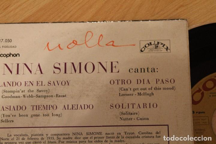 Discos de vinilo: THE AMAZING NINA SIMONE BAILANDO EN EL SAVOY EP 1960 - Foto 3 - 80095613