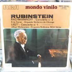 Discos de vinilo: RACHMANINOFF / LISZT. ARTUR RUBINSTEIN PIANISTA. LP. RCA 1972. Lote 80112357
