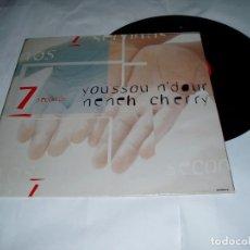 Discos de vinilo: 7 SECONS YOUSSOU NDOUR NENEH LP 1994 COLUMBIA. Lote 80134365