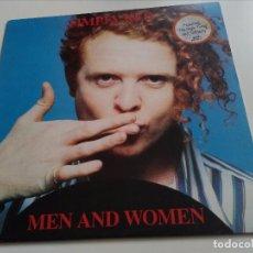 Discos de vinilo: SIMPLY RED MEN AND WOMEN LP. Lote 80140449