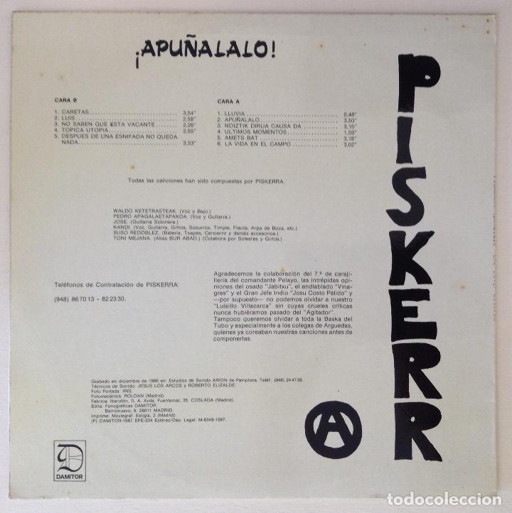 Discos de vinilo: Piskerra Apuñalalo LP vinilo punk - Foto 2 - 80151429