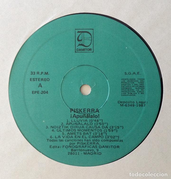 Discos de vinilo: Piskerra Apuñalalo LP vinilo punk - Foto 3 - 80151429