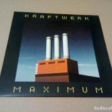 Discos de vinilo: KRAFTWERK - MAXIMUM (LP REEDICIÓN, TRANSISTOR MUSIC TM 012) NUEVO. Lote 137491241